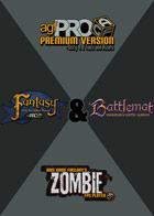 Mega Bundle - Axis Game Factory's AGFPRO 3.0 & Premium & Zombie & Fantasy & BattleMat DLC's