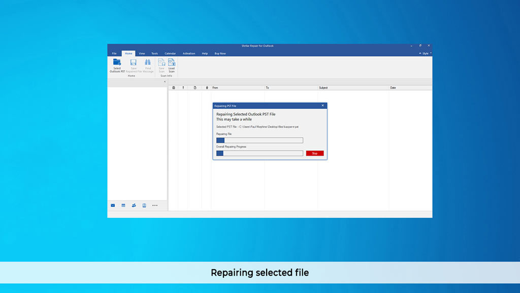 Stellar Repair for Outlook Professional V9.0 screenshot 2