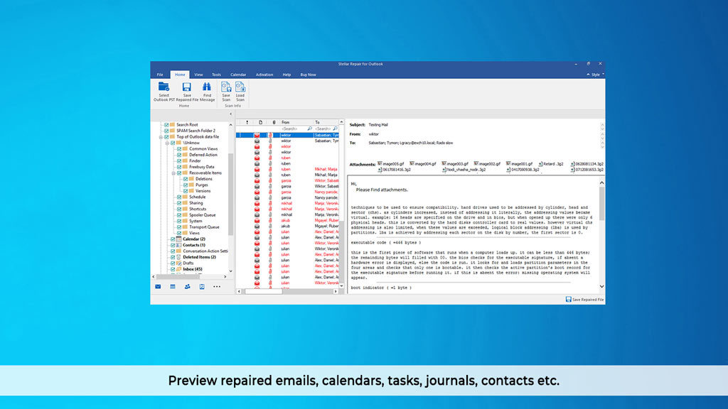 Stellar Repair for Outlook Professional V9.0 screenshot 3