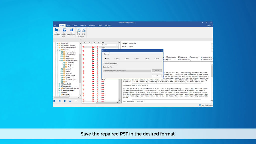Stellar Repair for Outlook Professional V9.0 screenshot 4